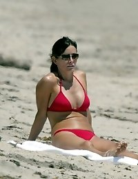 Courtney Cox in tiny bikiniCox