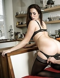 Curvaceous knocker spreading her hot legs for cock