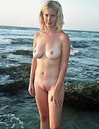 Warm Water Of The Sea And Beautiful View Of Sunset Make Sweet Mermaid Expose Her Irresistible Body F