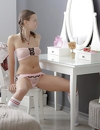 Captivating Blonde With Nice Braids Enjoys The Lonely Moments In The Best Possible Way. A Huge Toy M