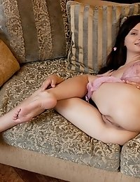 Admirable Brunette Babe Spreads Her Long Sexy Legs To Reveal Every Inch Of Her Juicy Cunt She Has Th
