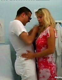 Horny Doctor Is Playing With A Clit