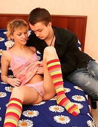 A Horny Stud Helps His Girlfriend Feel Sexier By Pounding Her Tight Holes.