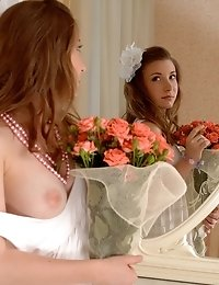 Fantastic Cute Blonde Cutie Likes To Be Watched While She Undresses In Seductive Way. Pure Sweetness