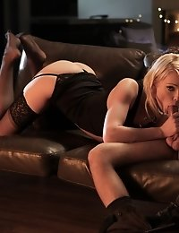 Blonde Beauty Zoey Paige Seduces Her Man With A Long Hot Blow Job And Then Sinks Down On His Cock Fo