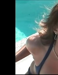 Hot and horny milf gets banged outside
