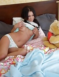 Horny Stud Stretches Yvette's Wet Holes.
