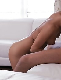 Mindy Uses Her Lush Lips For A Hot Blowjob And Then Gives Her Man A Ride On The Couch For A Wild Har