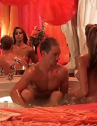 Couple enjoying a sensual massage and fuck