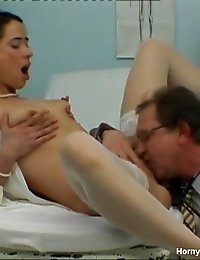Stunning Nurse Gets Her Mouth Full With Cum
