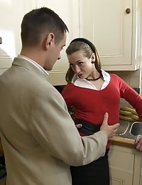 Young Milf fantasizes about hot sex in the kitchen