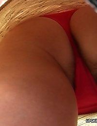 Nasty shots with sexy babes' upskirt view