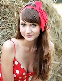 Gorgeous Teen Beauty Takes Off Her Red Summer Dress And Shows Off All Her Private Parts.