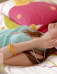 A Flawless Brunette Teen Honey Who Got Turned On By Listening To Her Favorite Singer, So She Took Of