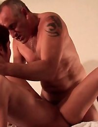 A masseuse fucks his client on the table