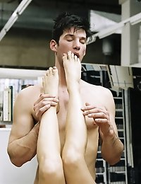 This foot massage ends with a dirty encounter