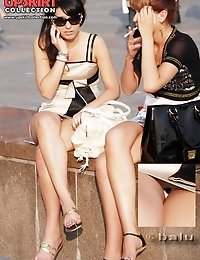 Chic dress upskirts only for you