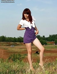 Gals provide with hot upskirt erotic