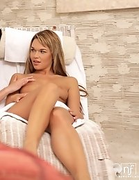 Slender Seductresses Eileen And Frida Take Turns Lubing Each Other Up So They Can Pleasure Their Wet