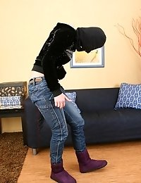 Aleksa Is A Sexy Thief And She Is Banged By Two Studs.