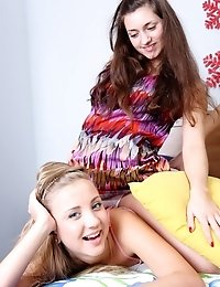 Four Teen Cuties Indulge Themselves In Kinky Lesbian Games Using Their Tongues And Dildos.