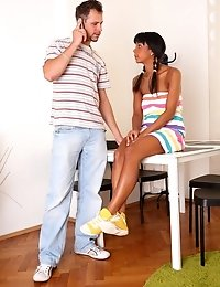 Kim Is A Brunette Virgin Who With Her Man Gets Her Pussy Inspected By Her Doctor.