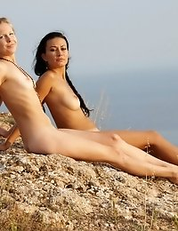 Perfect Teen Sweethearts Show Their Hot Naked Bodies And Their Love For Each Other Outdoors.
