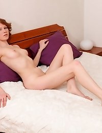 A Kind Sized Bed Has Never Been So Desirable Like This One, On Which This Redhead Goddess Does Her S