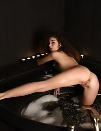 This Skinny Beauty Bathes Her In The Bath Tub While Showing Every Inch Of That Perfect Teen Body To