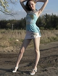 Gorgeous Perfect Nude Angel Made Up Her Mind To Have A Walk In The Field And To Enjoy The Nature Wit