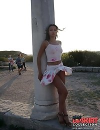 Short short skirts uncovering hot upskirt views