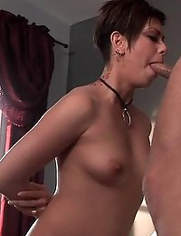 Brunette loves to suck her partners cock
