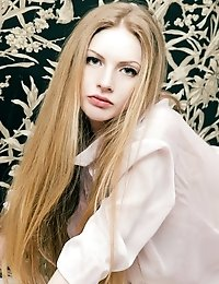 Amazing Teen Beauty With Splendid Long Hair And Slender Flexible Body Poses In The Nude.