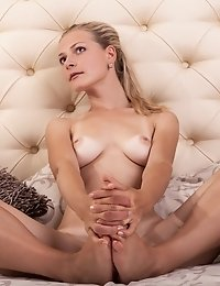 Sweet Blonde Beauty Slowly Undresses From Top To Bottom As She Reveals Her Hot Booty And Irresistibl