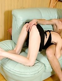 Hot And Neat Blonde Teen Seduces Guy Then Sucks On His Juicy Cock.