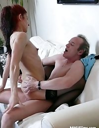 Skinny mature housewife enjoys a good fuck