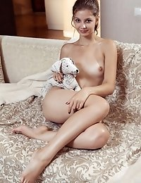 She Has A Lot Of Fun As Her Clothes Slip Off And Reveal Her Wonderful Teen Pussy In Front Of The Cam