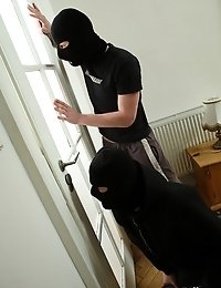 Lucky Robbers Got Tons Of Valuable Stuff And Wet Pussy.