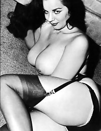 Vintage erotic with beautiful half naked doll