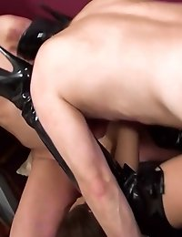 Kinky babe pounded by two horny guys in threesome