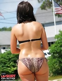 Secretly following hot bikini butts