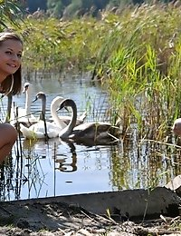 Hot Teen Lesbos Get Naughty On Their Visit To The Pond Where They Show Some Of Their Beauty And Hot