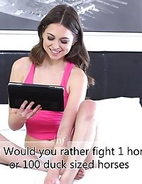 Spunky Brunette Riley Reid Answers Viewer Questions About Her Childhood Her Porn Career And Her Futu