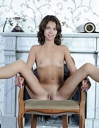 Skinny Teen Gets Naked In A Mansion Where She Discovers Her Own Lust And Has Fun With Her Surroundin