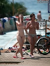 Pure nudism show performed outdoor