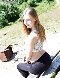 Tight spandex jeans girls smiling