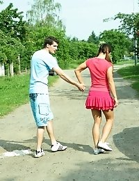 Brunette Kelly Fucks With A Guy Whom She Met In The Park.