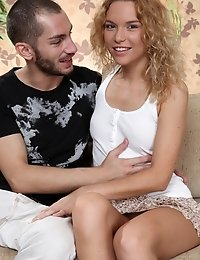 Lovely Blonde Teen Enjoys Every Second While Playing With Big Dick Of Her Naughty Friend.