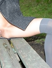 Petite Sweetie Shows How Day Can Be Made More Colorful. Astonishing Teen Chick Flashing Amazing Hot