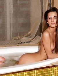 Gorgeous Teen Model With Flawless Slim Body Takes A Bath And Shows Off Her Sexy Amenities.